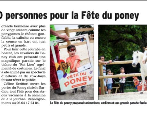 Article Dauphiné Libéré Fête du poney