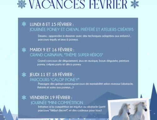 Programme Vacances Février 2021