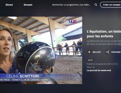 Le poney club au journal de TF1